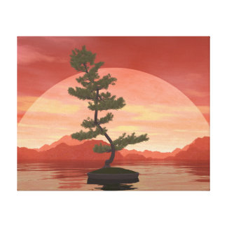 Scotch pine bonsai tree - 3D render Canvas Print