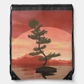 Scotch pine bonsai tree - 3D render Drawstring Bag