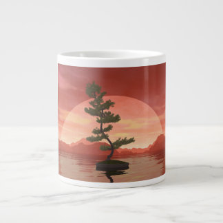 Scotch pine bonsai tree - 3D render Large Coffee Mug