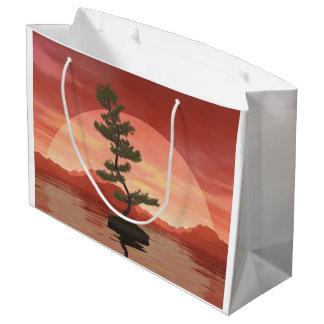 Scotch pine bonsai tree - 3D render Large Gift Bag