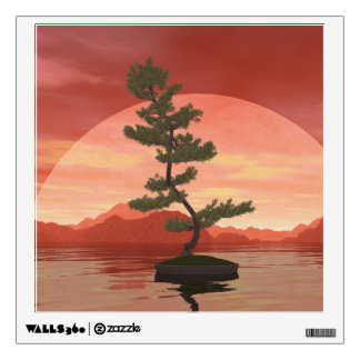 Scotch pine bonsai tree - 3D render Wall Sticker