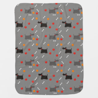 Scotch terrier. baby blanket