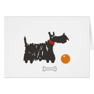 Scotch terrier card