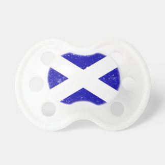 Scotish Flag With Grunge Pacifier