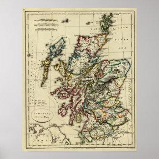 Scotland ancient, modern poster