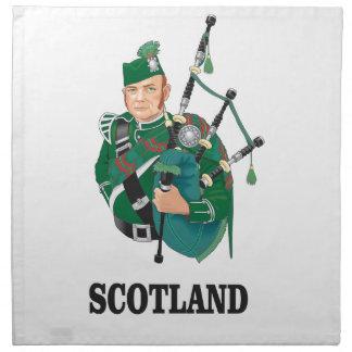 Scotland art napkin