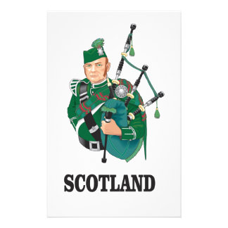 Scotland art stationery paper