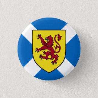 Scotland Badge - Cross & Lion 1 Inch Round Button