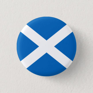 Scotland Badge - Cross of St. Andrew 1 Inch Round Button