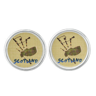 Scotland Bagpipes Cuff Links