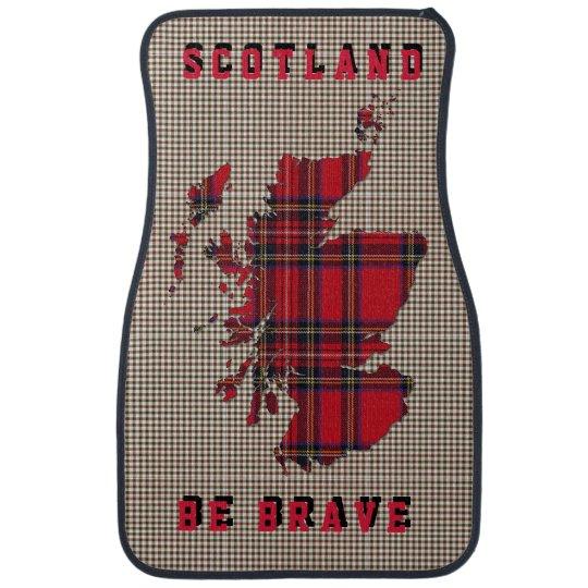 Scotland Be Brave Stuart Tartan Pattern Car Set Floor Mat