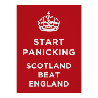 Scotland Beat England - Rugby Poster