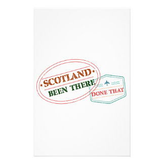 Scotland Been There Done That Custom Stationery