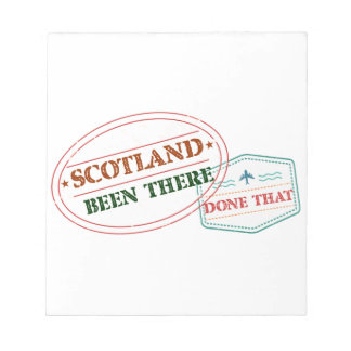Scotland Been There Done That Notepad