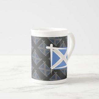 Scotland Brush Flag Tea Cup