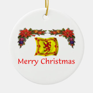 Scotland Christmas Ceramic Ornament