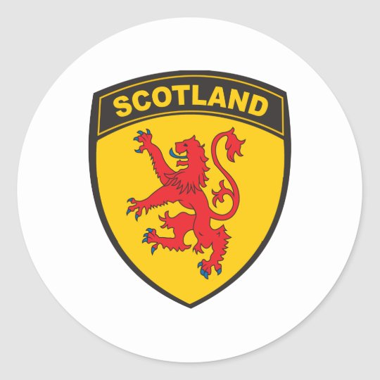 Scotland Classic Round Sticker