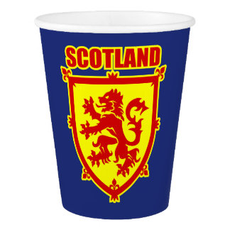 Scotland Coat of Arms with Lion Rampant Paper Cup