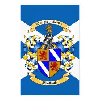 scotland customized stationery