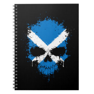 Scotland Dripping Splatter Skull Note Books