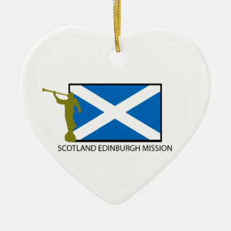 SCOTLAND EDINBURGH MISSION LDS CTR CERAMIC HEART ORNAMENT