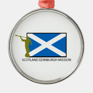 SCOTLAND EDINBURGH MISSION LDS CTR Silver-Colored ROUND ORNAMENT