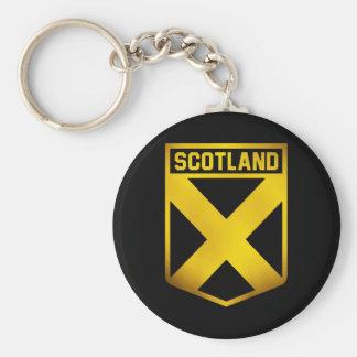 Scotland Emblem Basic Round Button Keychain