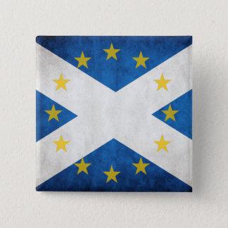 Scotland EU badge 2 Inch Square Button
