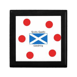 Scotland Flag And Scots Gaelic Language Design Gift Box