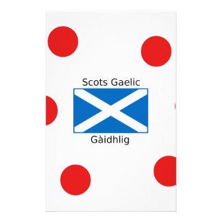 Scotland Flag And Scots Gaelic Language Design Stationery
