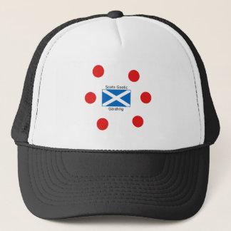 Scotland Flag And Scots Gaelic Language Design Trucker Hat
