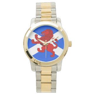 Scotland flag bonnie blue  lion rampant wristwatch