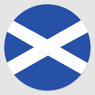 scotland flag classic round sticker