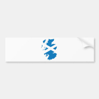 Scotland Flag Map full size Bumper Sticker