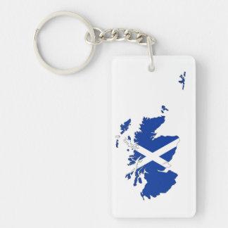 scotland flag map united kingdom country shape keychain