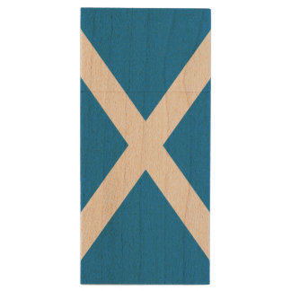 Scotland Flag Wood USB 2.0 Flash Drive