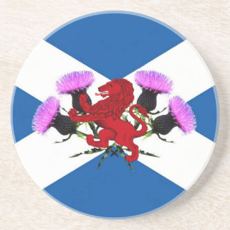 Scotland, flower thistle, Rampant lion Coaster