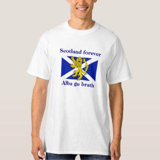 Scotland Forever Alba Gu Brath Lion Flag Tee
