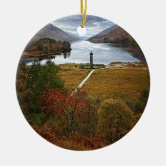 Scotland, Glenfinnan Monument, Highlands Ceramic Ornament
