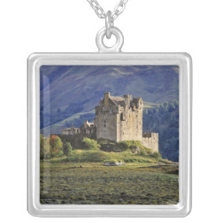 Scotland, Highland, Wester Ross, Eilean Donan 3 Silver Plated Necklace