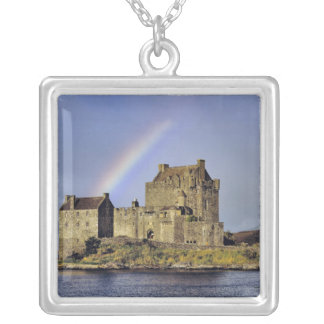 Scotland, Highland, Wester Ross, Eilean Donan Silver Plated Necklace