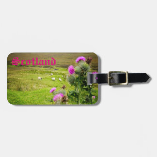 Scotland Highlands Customizable Travel Luggage Tag
