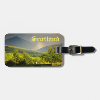 Scotland Highlands Customizable Travel Luggage Tag