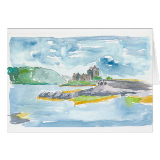 Scotland Highlands Fantasy and Eilean Donan Castle Card