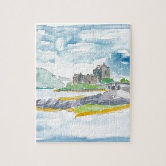 Scotland Highlands Fantasy and Eilean Donan Castle Jigsaw Puzzle