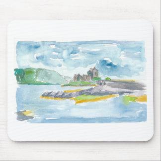 Scotland Highlands Fantasy and Eilean Donan Castle Mouse Pad