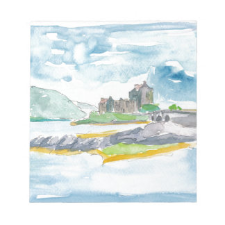 Scotland Highlands Fantasy and Eilean Donan Castle Notepad