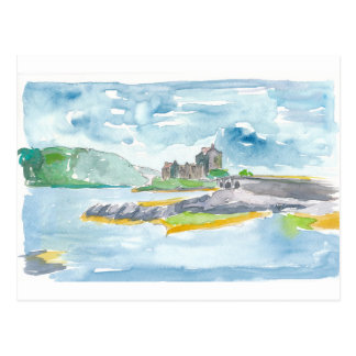 Scotland Highlands Fantasy and Eilean Donan Castle Postcard
