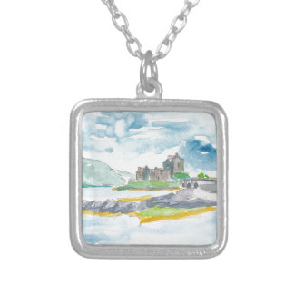 Scotland Highlands Fantasy and Eilean Donan Castle Silver Plated Necklace