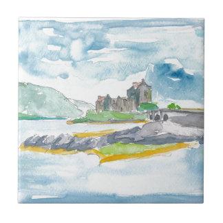 Scotland Highlands Fantasy and Eilean Donan Castle Tile